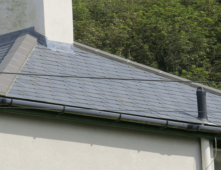 Residential property roof